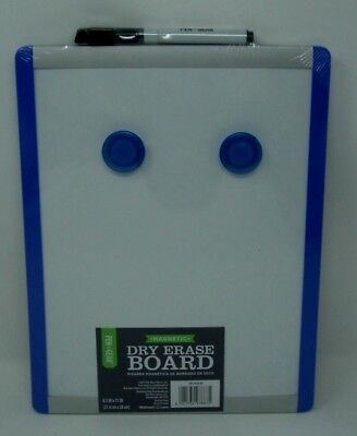 Dry Erase Board 8 12 X 11 Inches Black Blue Or Red Frame Magnetic 2 Magnets