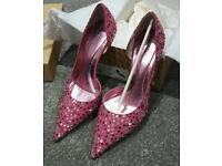 Designer Crystal Roda Shoes size 37