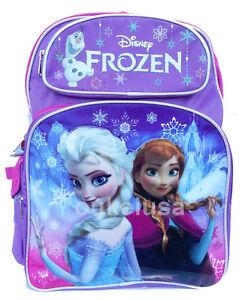 Disney-Frozen-Large-Backpack-16-Elsa-Anna-Olaf-Girls-Bag-NEW-HOT