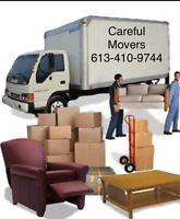 Careful Movers. Most competitive moving  and delivery rates
