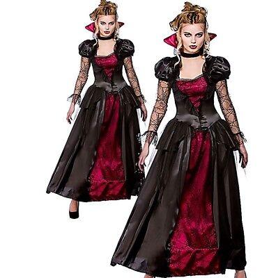 Adult Deluxe VAMPIRE QUEEN Ladies Halloween Fancy Dress Costume UK Sizes 6-28](Size 28 Ladies Halloween Costumes)