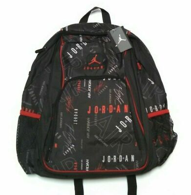 Nike Air Jordan Jumpman Black Backpack Legacy Full Size Graphic Laptop Sleeve