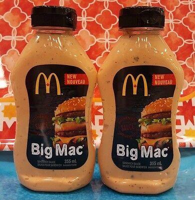 3 Bottles McDonalds Authentic Big Mac Sandwich Sauce FROM CANADA FREE USA SHIP