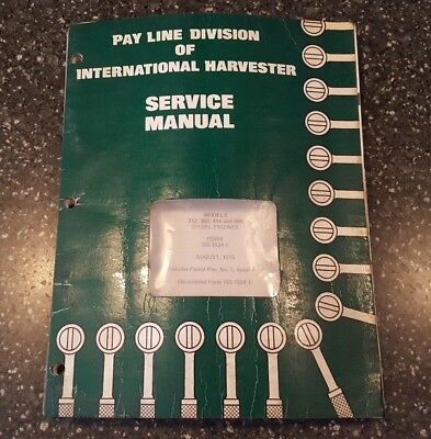 International Construction Equipment Engine Service Manual Iss-1524-2 1975