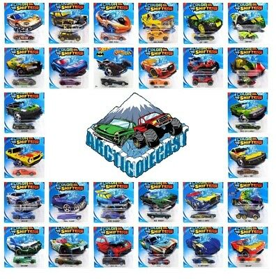 Hot Wheels COLOR SHIFTERS Color Changing 1:64 YOU CHOOSE FROM 32 CARS 5/24/2020