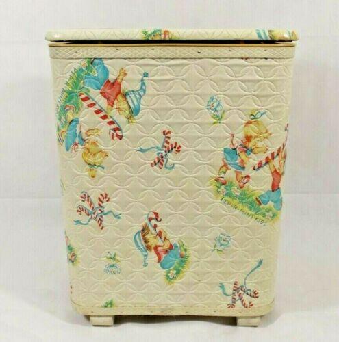 Vintage Redmon Childs Hamper Toys Quilted Peppermint Kids