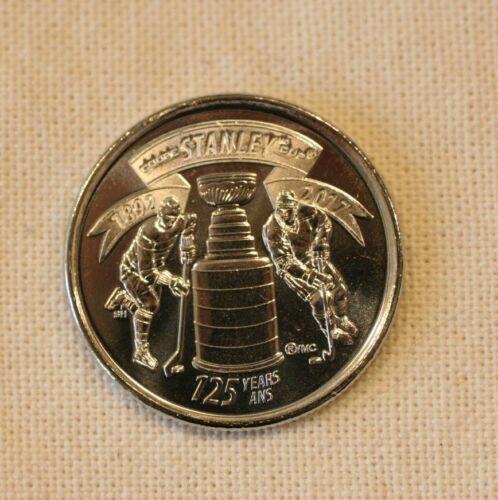 Canada, 2017, Quarter UNC. 125 years of Stanley Cup,  Queen Elizabeth II, UNC.
