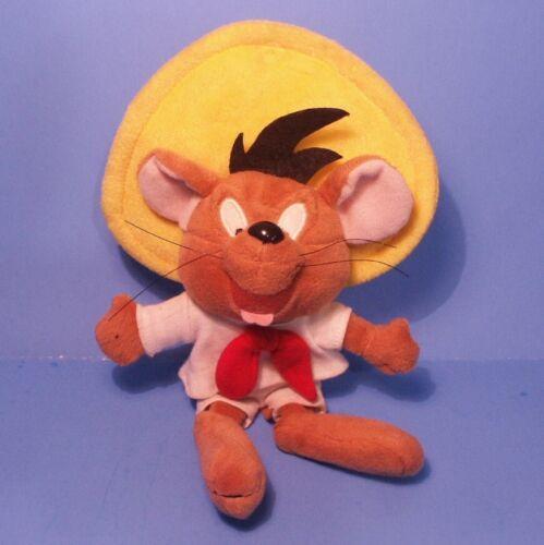 "Vtg 1998 (8"" SPEEDY GONZALES Plush) Talking Toy! WARNER BROS STUDIO STORE"