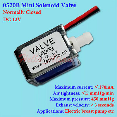 Dc 12v Mini Electric Dc Solenoid Valve Nc Normally Closed Gas Air Exhaust Valve