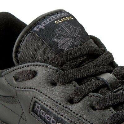 Reebok Club C 85 Black Charcoal Grey Blue Fashion Mens Casual Shoes AR0454 Sizes
