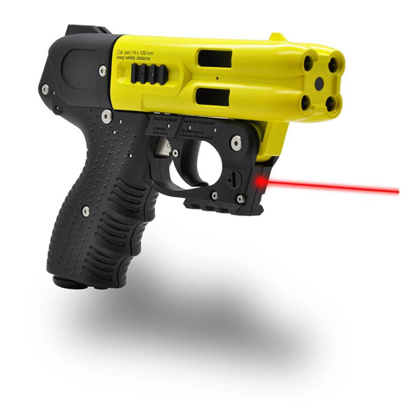 FIRESTORM 4 SHOT PEPPER GUN YELLOW BARREL WITH LASER