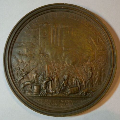 Siege De La Bastille Air France Concorde Bronze Medallion 80mm