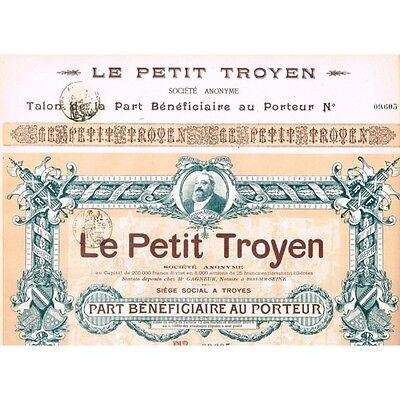 21.11.1907  Le Petit Troyen, Troyes, Verlag/Zeitung