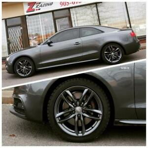 Audi A4 A5 S4 S5 winter tires rims packages @Zracing  905 673 2828 New 4 Rim +4 Tires $1100 + Tax Installed  Balanced