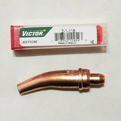 Victor 2-1-118 Acetylene Cutting Torch Tip Washing Gouging Scarfing 2600 2460