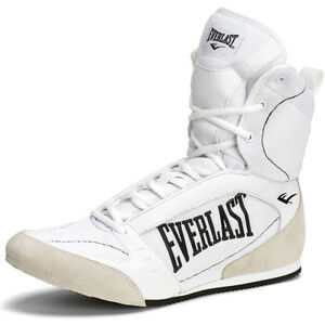 everlast hi top pro competition boxing shoes white