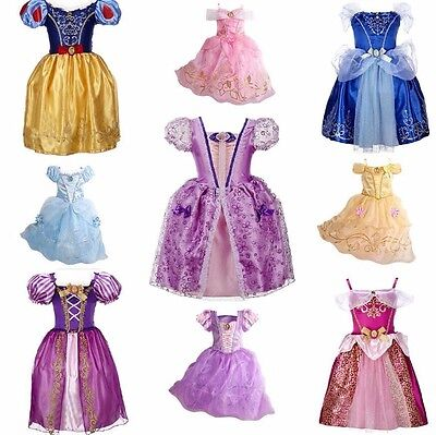 Little Kid Girls Princess Cinderella Belle Sofia Cosplay Dress Up Cute Costume
