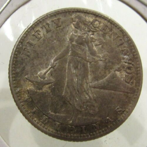 1944-S Philippines Fifty Centavos 90% Silver Coin