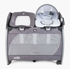Joie change and travel cot with rocker