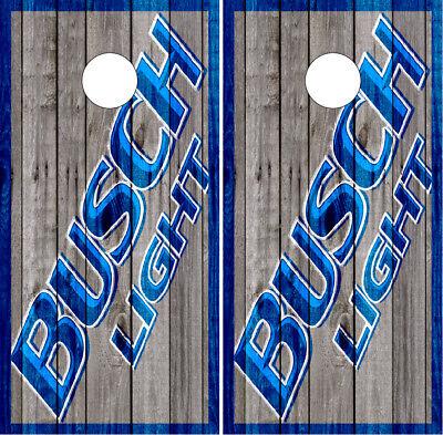 Busch Light Barnwood Cornhole Wraps Vinyl Boards Decals Bag Toss Game Stickers  - Busch Light Stickers