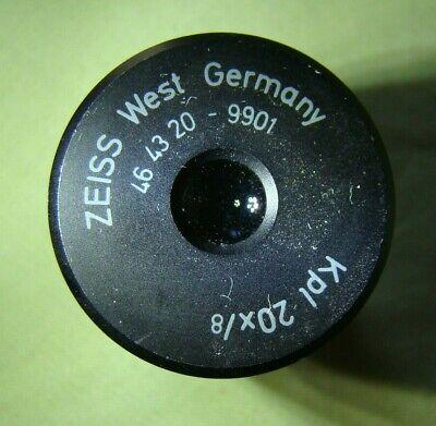 Zeisskpl 20x 8 Microscope Eyepieces Pair 46 43 20 - 9901