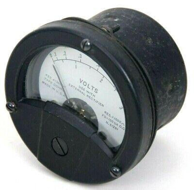 Vintage Roller-smith Direct Current Volts Panel Meter Gauge 0-0.60-3 Type Ddhrg