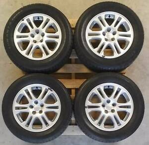 "4x Subaru Forester XT 16x16.5"" Enkei Wheels with 215/60R16 Tyres Glenunga Burnside Area Preview"
