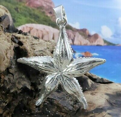 LARGE, REAL STERLING SILVER, DIAMOND CUT, HIGH POLISHED, STARFISH -