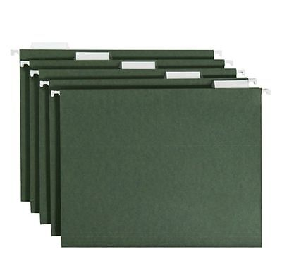 Smead 15 Tabs Hanging File Folders Cut Letter Size Green 50ct No Sales Tax