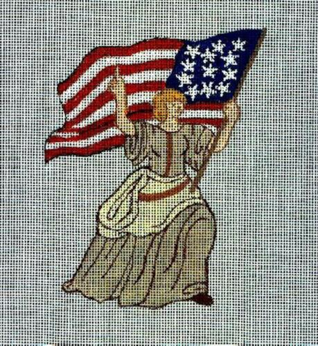 New Hand Painted Needlepoint canvas-   Ms Liberty  - Free Shipping