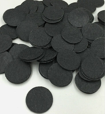 500pcs BLACK felt circles 4cm Round felt patches for hair accessory making