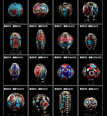 1/5Pcs Nepalese Tibetan Handmade Metal Copper Beads Nepal DIY Jewelry Supplies