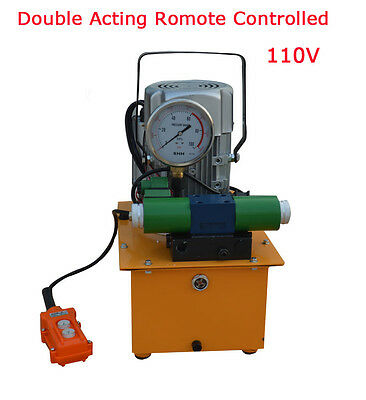 10000 Psi Double Solenoid Valve Two-circuit 110v Electric Driven Hydraulic Pump
