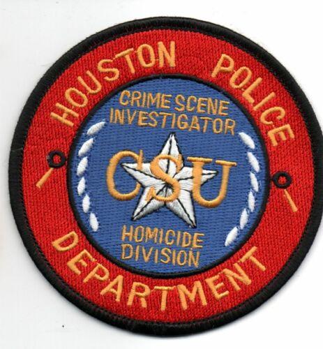 HOUSTON Texas Police CSI Crime Scene Investigator HOMICDE Division Patch
