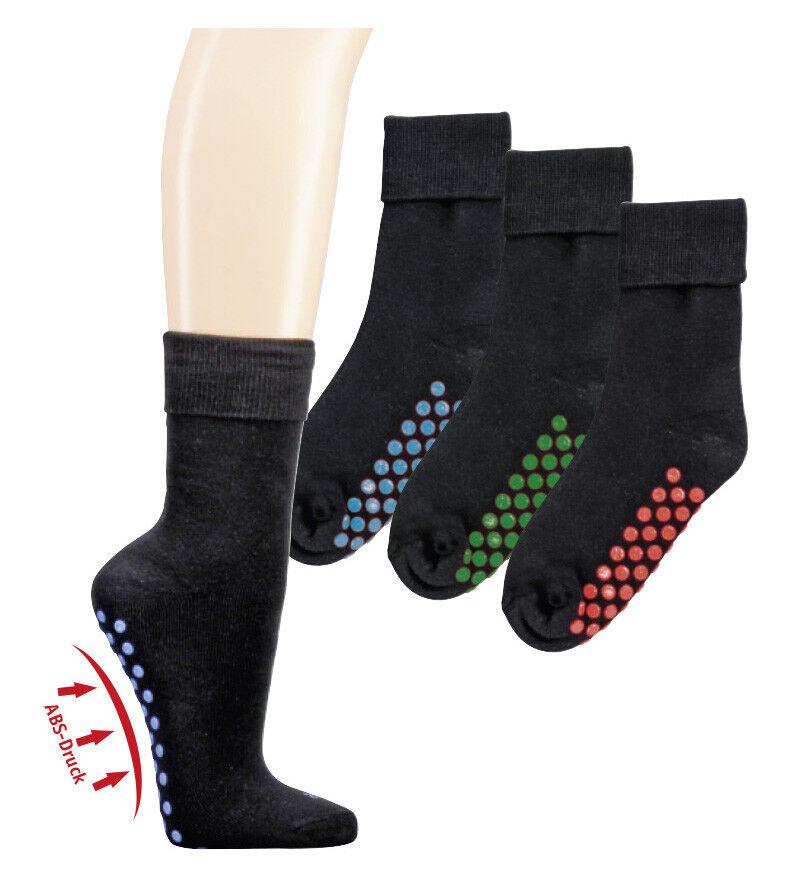 2-6 Paar ABS Socken Stoppersocken Bauwolle Damen Herren Kinder Gr. 35-50