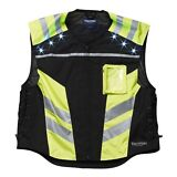 Triumph Men's Yellow/Black Light Vest ~Be Seen at Night