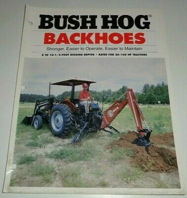 Bush Hog 760h 860h 1000h Backhoe Sales Brochure Literature
