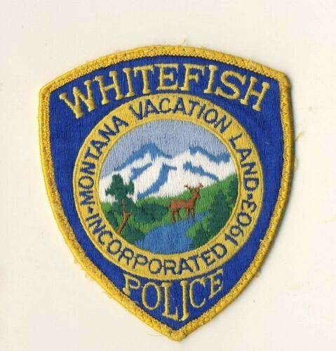 """Whitefish MT Montana 4.75"""" Shoulder Patch"""