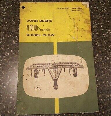 John Deere 100 Series Chisel Plow Operators Manual Om-n159100