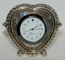 Brighton - TIME IS LIFE'S HEARTBEAT Desk Clock - Heart Shaped