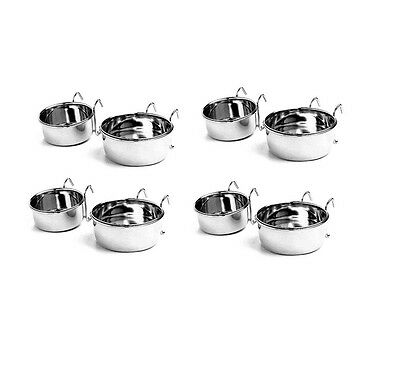 Hanging Kennel Cup for dog & pet - Stainless Steel Hanging Kennel Cup
