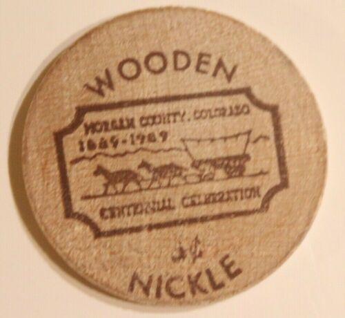 Vintage Morgan County Colorado Wooden Nickel
