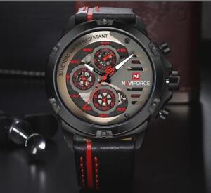 NAVIFORCE NF9110BYBN Luxury Watch Man Leather Sport Wrist Watch
