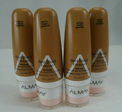 Lot 4 Almay Best Blend Forever Foundation Makeup SPF 40 Natural Tan 180