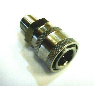 Legacy 8.707-110.0 Pressure Washer Hose Quick Coupler Socket 14 Mpt Stainless