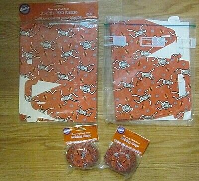 Halloween Cookie Gift Boxes and Baking Cups Dancing Skeletons Wilton Lot