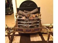 Electric Fireplace Wood Faux Fake Flame Safe