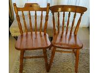 2 farmhouse dining/kitchen chairs