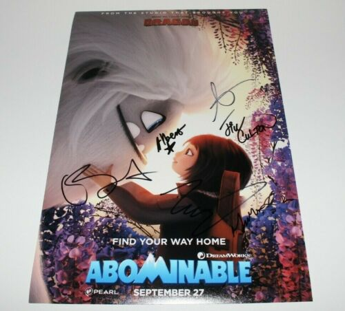 ABOMINABLE MOVIE CAST SIGNED 12x18 POSTER x6 w/COA YI JIN PENG CHLOE BENNET