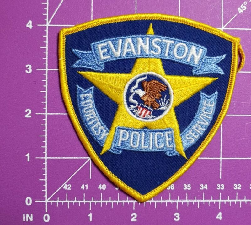 Evanson Illinois Police-shoulder patch